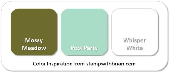 Stampin' Up! Color Inspiration: Mossy Meadow, Pool Party, Whisper White: