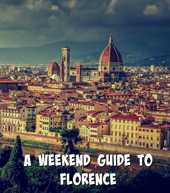 itineraries florence weekend