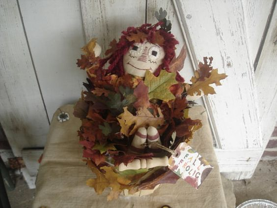 Fall Frolic Annie Primitive Rustic Fall by YorkiesPrimitives, $25.95