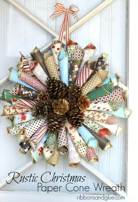 59 Incredibly Simple Rustic Décor Ideas That Can Make Your: Paper Cones, Christmas Paper And Rustic Christmas On Pinterest
