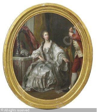 Marquise de Marigny, 1769, manner of Louise-Michel van Loo