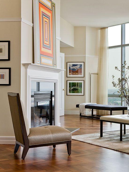 Ritz Carlton Penthouse u2013 Elms Interior Design - Contemporary - wandfarben fürs wohnzimmer