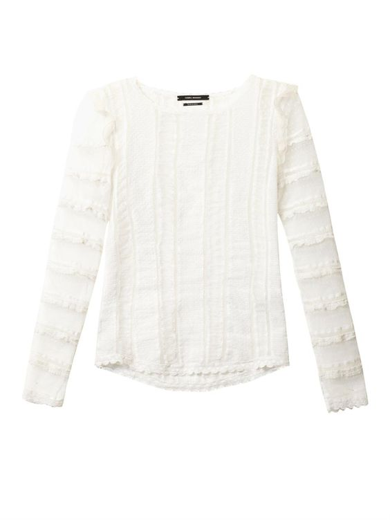 Quena plumeti embroidered cotton blouse | Isabel Marant
