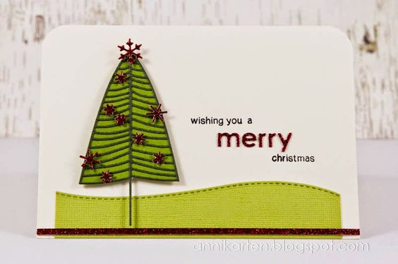 Annikarten: Keep it Simple! # 39: Watercolor Poppy Stamps: Large Fremont Pine