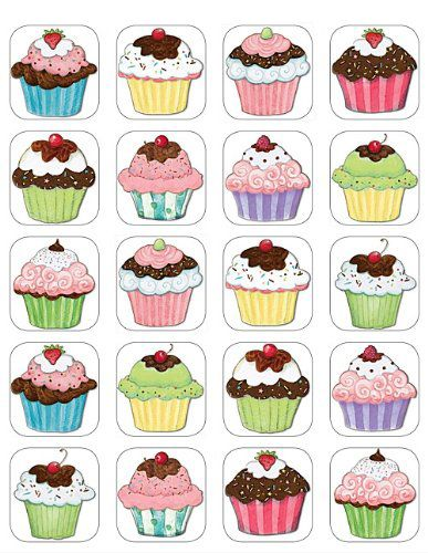 Cupcake stickers, gezellig!