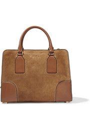 MICHAEL Michael KorsLeah medium leather-trimmed suede tote