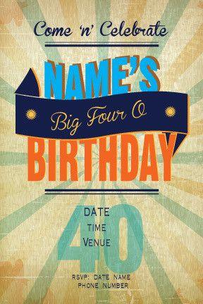 Birthday invitations adult, Birthday invitations and 30th birthday ...