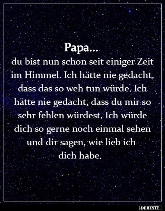 Papa ich lieb dich sprüche