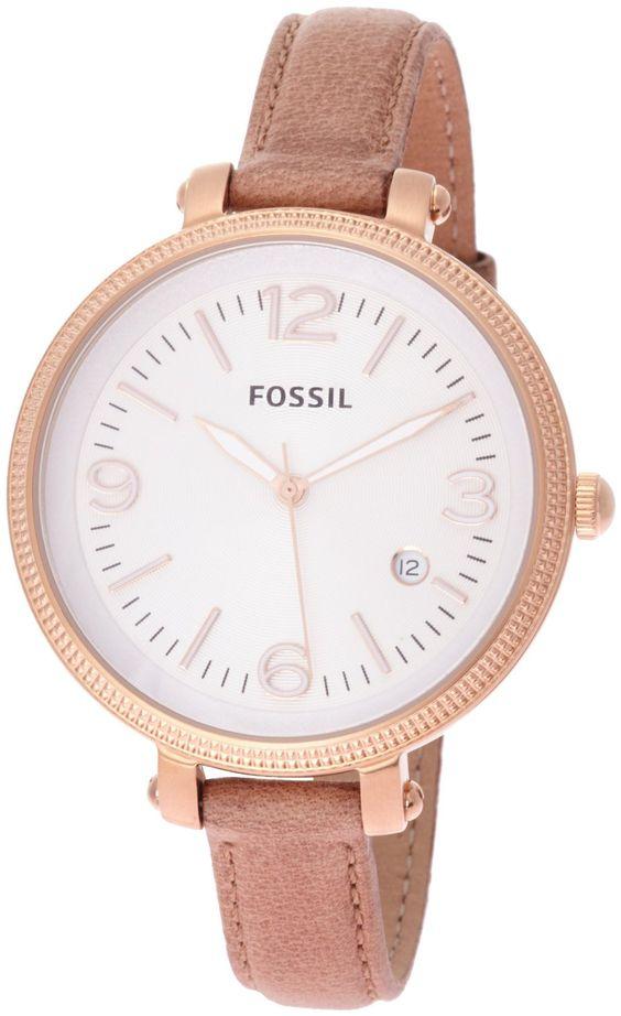 Fossil Damen-Armbanduhr Analog Leder ES3133: Amazon.de: Uhren