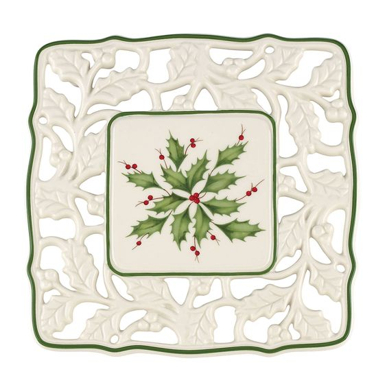 Lenox Holiday Pierced Trivet