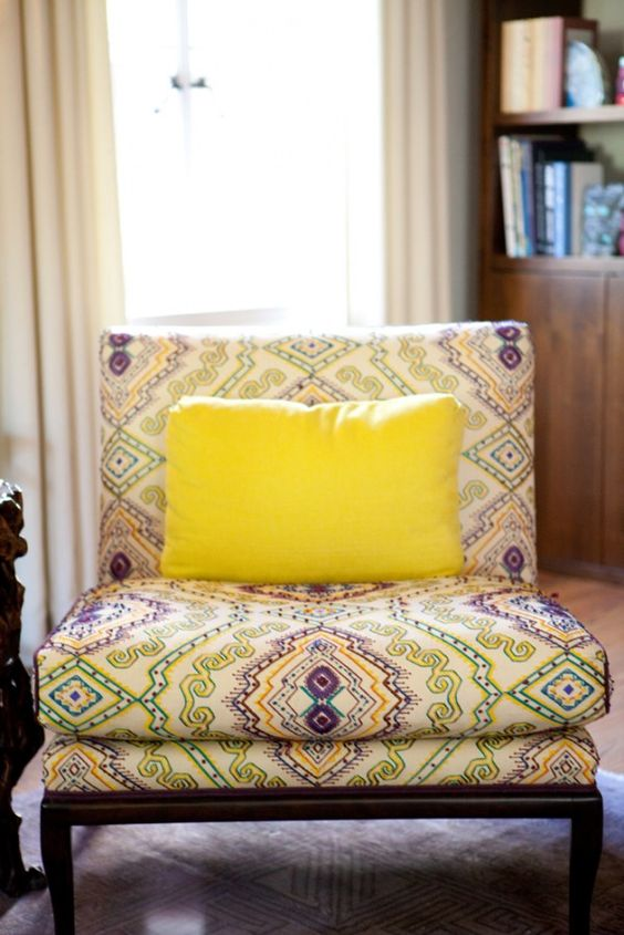 great patterned chair