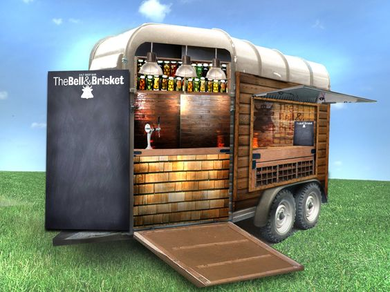 Converted horse trailer google search foodtruck for Bar 96 food truck