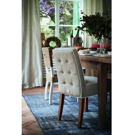 RM classic Dining Chair, linen, flax/white € 269,- #living #interior #rivieramaison: