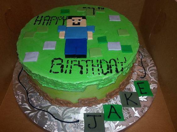 #ExquisiteDessertsBakery #birthdaycake #minecraft #cake