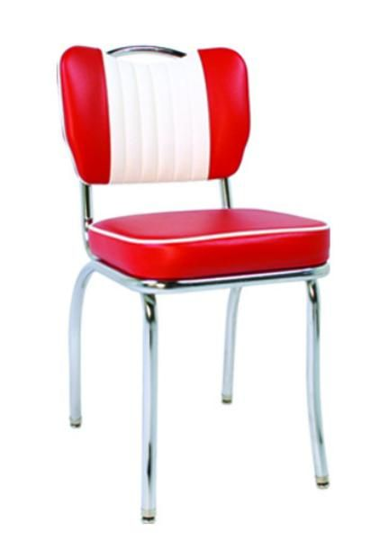 Couleur Peinture Living : Vitro 921HBSHMB Classic Diner Chair, Malibu Back w Handle, 2 in Sewn