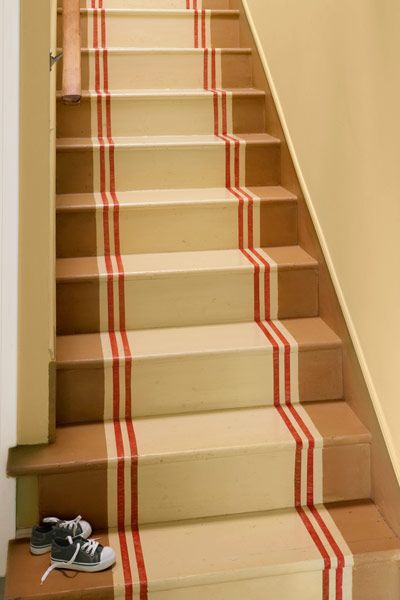 11 ways to give your home a personal stamp runners for Painted stairs with runner