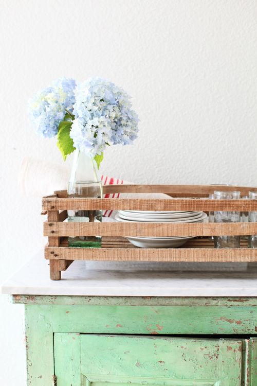 Dreamy Whites: Vintage French Fruit Crates