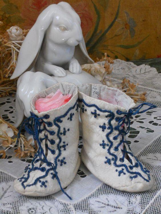 ~~~ Beautiful 19th. Century BeBe Shoes ~~~