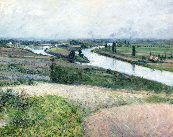"""""""The Seine At Épinay,"""" Gustave Caillebotte, 1888"""