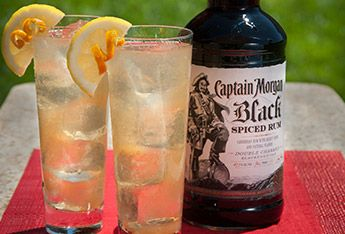 spiced ginger tea with captain morgan black cask 100 proof spiced rum