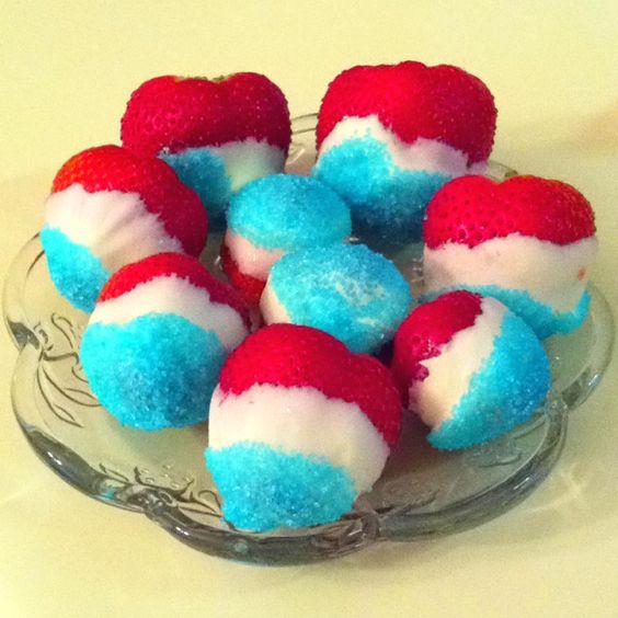 Patriotic strawberries I made!