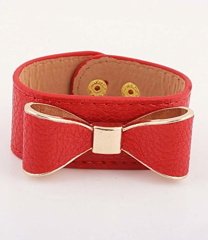 Red Stephanie Bow Bracelet from P.S. I Love You More Boutique