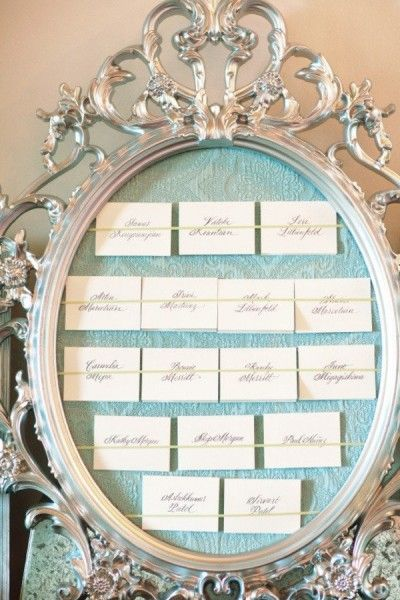 Planche inspiration mariage ivoire bleu ciel d co plan de table baroque origi - Plan de table mariage baroque ...