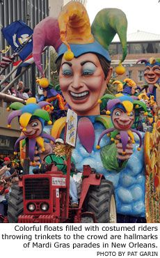 Mardi Gras Parades | ... are hallmarks of Mardi Gras parades in New Orleans. Photo by Pat Garin: