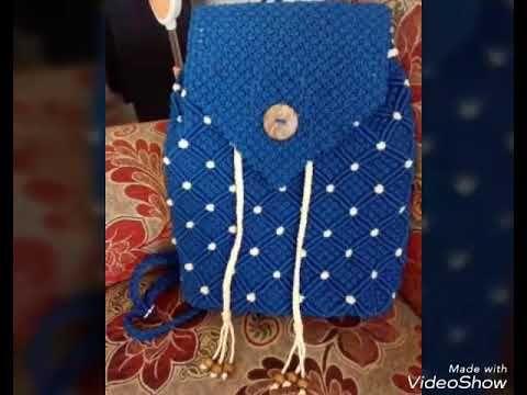 Tutorial Lengkap Tas Ransel Dari Tali Kur Youtube Macrame Bag Macrame Knots Tutorial Paracord Diy