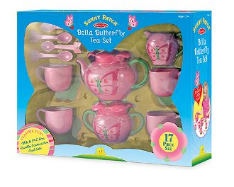 Best Toys for Kids 2014: www.pipedreamtoys.com Bella Butterfly Pretend Play Tea Set