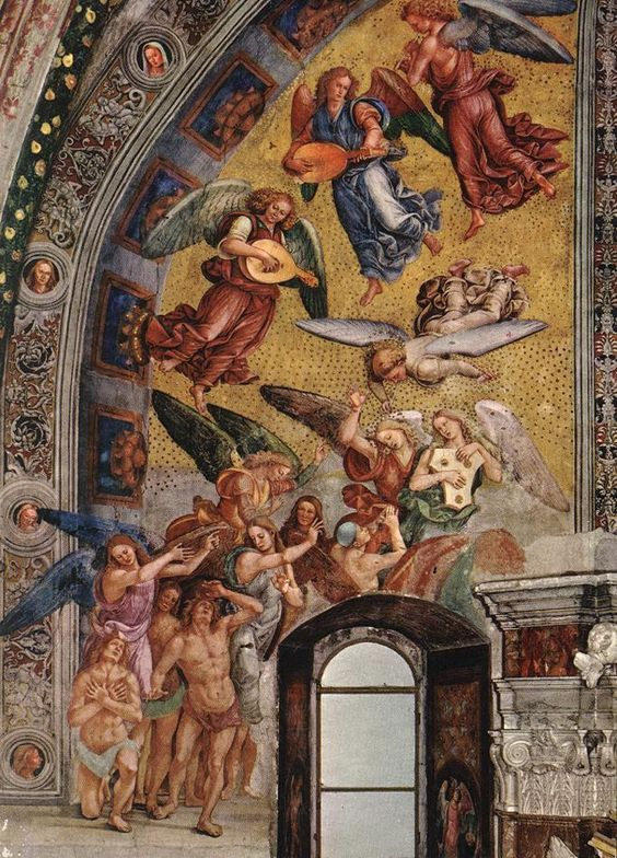TICMUSart: The Last Judgment (The left part of the composition) - Luca Signorelli (1499-1502) (I.M.)