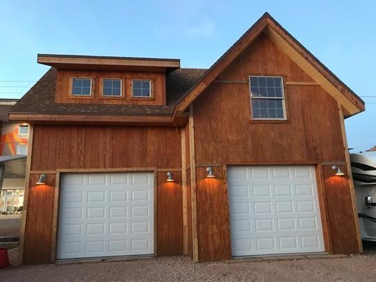 Front View Garage Loft Wood Shed Plans Shed Plans