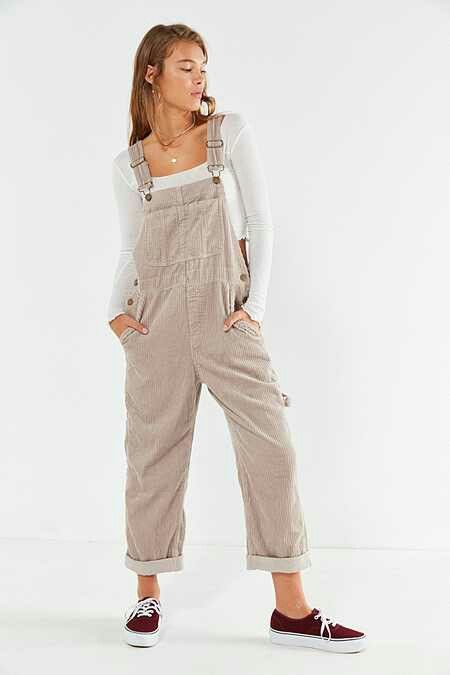Overol De Corduroy Ropa Estilos De Ropa Mujer Pantalones De Pana