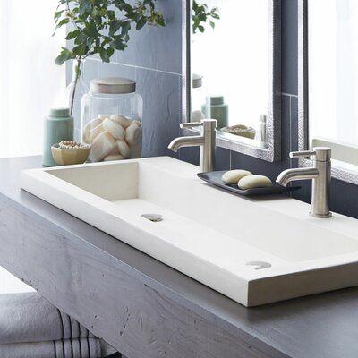 Native Trails Inc Trough Stone 48 Trough Bathroom Sink Sink