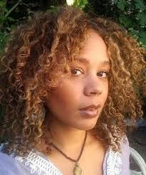 rachel true balayage highlights on curly natural hair