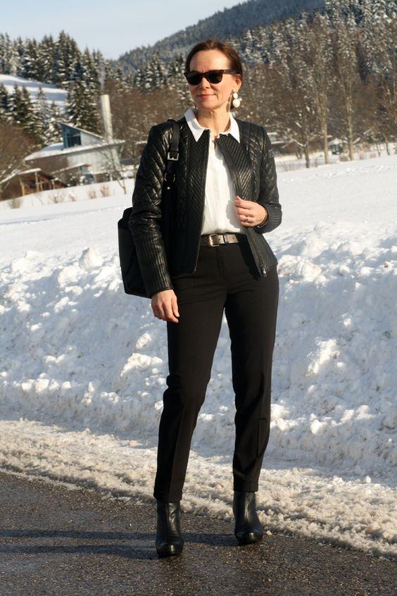Black leather jacket - style over 50