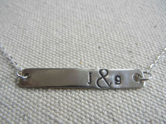 Horizontal Rectangle Bar Sterling Silver by RedBarberryJewelry, $33.00