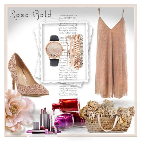 Rose Gold Jewelry by leotheo on Polyvore featuring Head Over