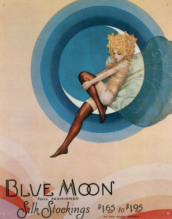 Blue Moon silk stockings