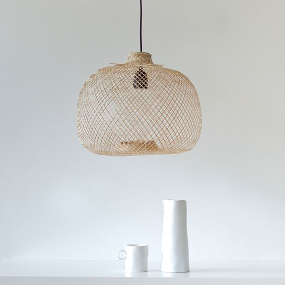 Bambuslampe rund / Heimelig-Shop