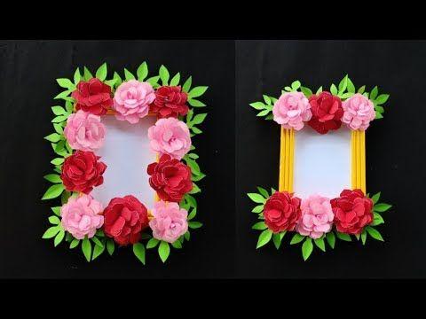 Ide Kreatif Membuat Bingkai Foto Hias Dari Kertas In 2020 Home