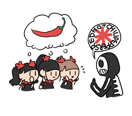 2016 UK Tour Red Hot Chili Peppers + BABYMETAL [カオイ (@wrdkmc) | Twitter]