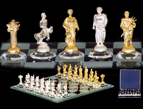 Antique  inspired Roman Chess Set