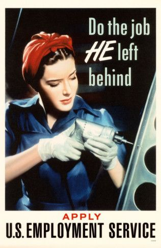 US Employment Service print. Is she a predecessor to Rosie the Riveter or is this her?
