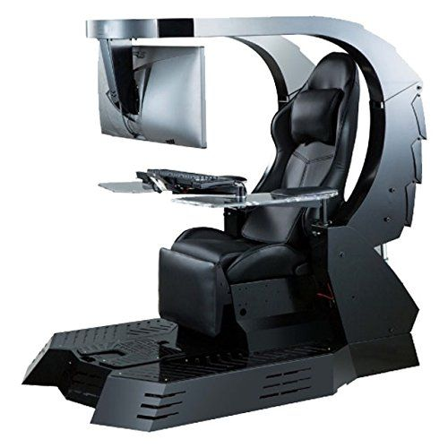 Iwj20 Imperator Works Gaming Chair Computer Chair Workstation For Triple Monitors Computer Station Video Game Room Design Game Room Design