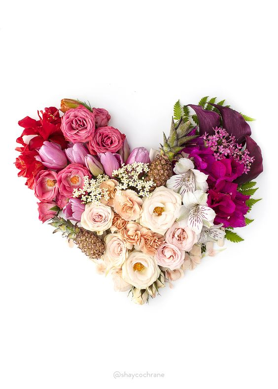 Love is beautiful.   Valentines heart floral styling by Shay Cochrane. www.scstockshop.com