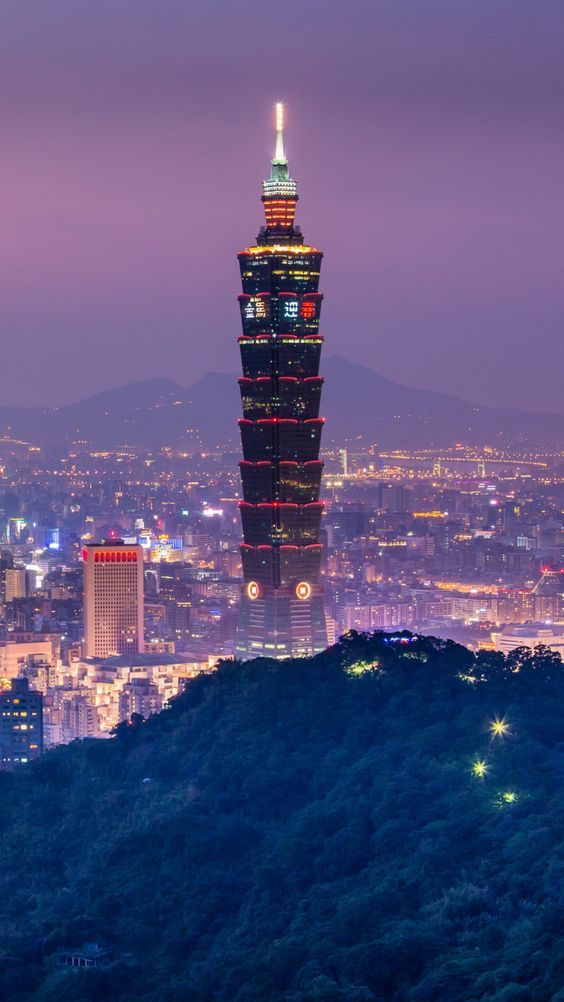 taipei, taiwan, china, night, china: