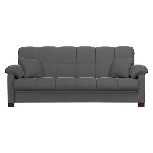 Maurice Microfiber Pillow Top Arm Convert A Couch Futon Sofa