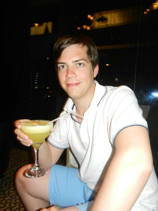 Thomas and his cocktail.