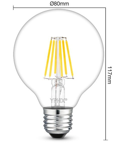 dimbare filament e27 led lamp atlas 7 5 watt vervangt 60 75w